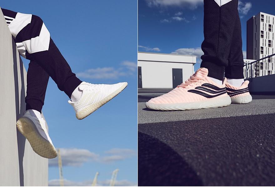 adidas Originals Sobakov in weiß und pink