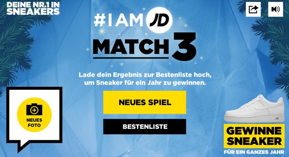 #Iam JD Match 3 Weihnachtsspiel Landing page