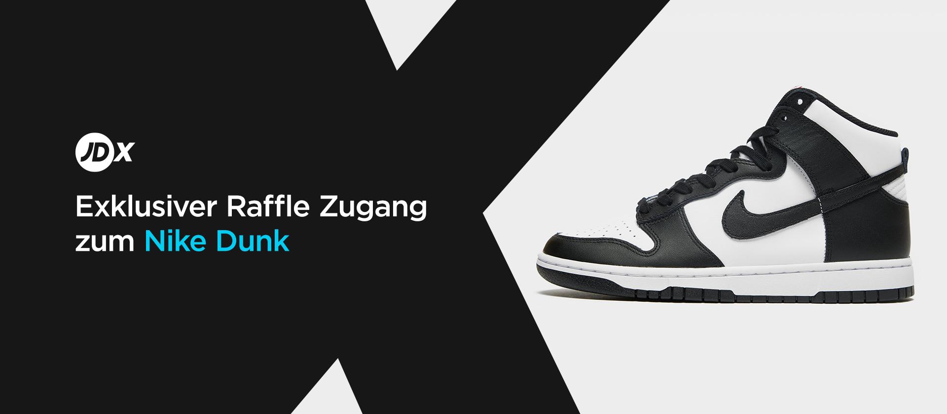 Exklusiver Zugang zum Nike Dunk in Schwarz-Weiß
